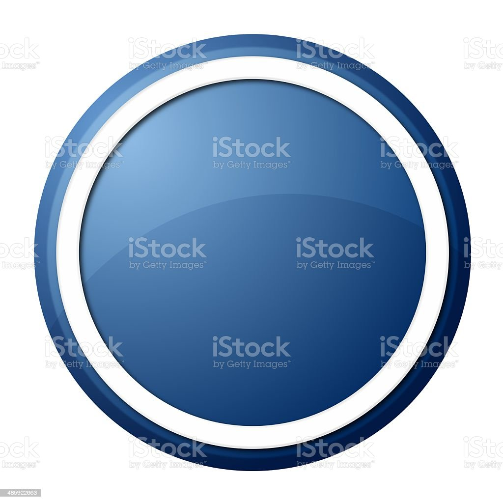 Blue Button stock photo