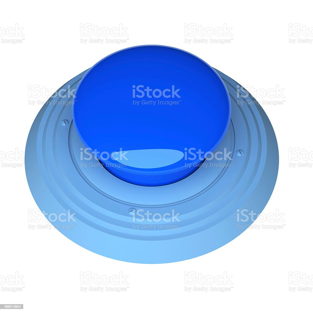 Blue Button royalty-free stock photo