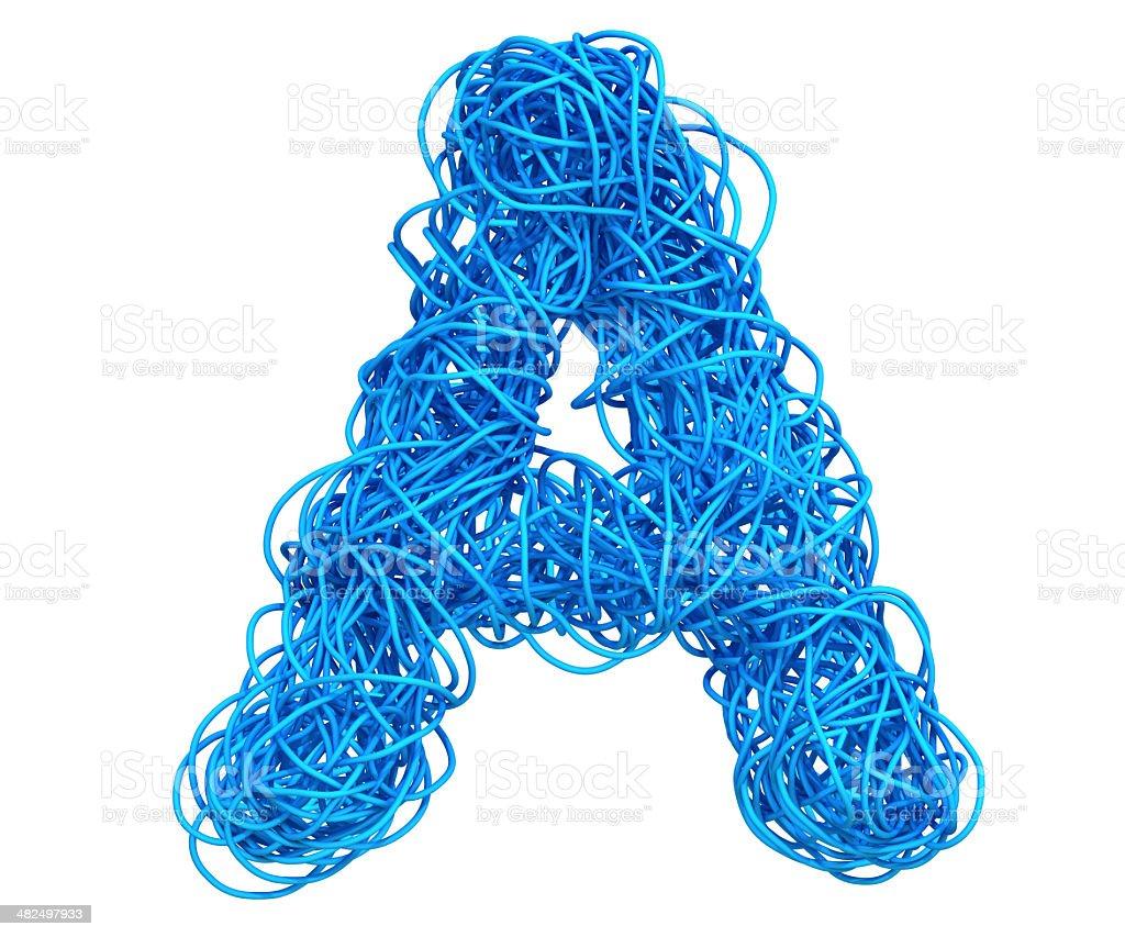 Blue Cable Alphabet stok fotoğrafı