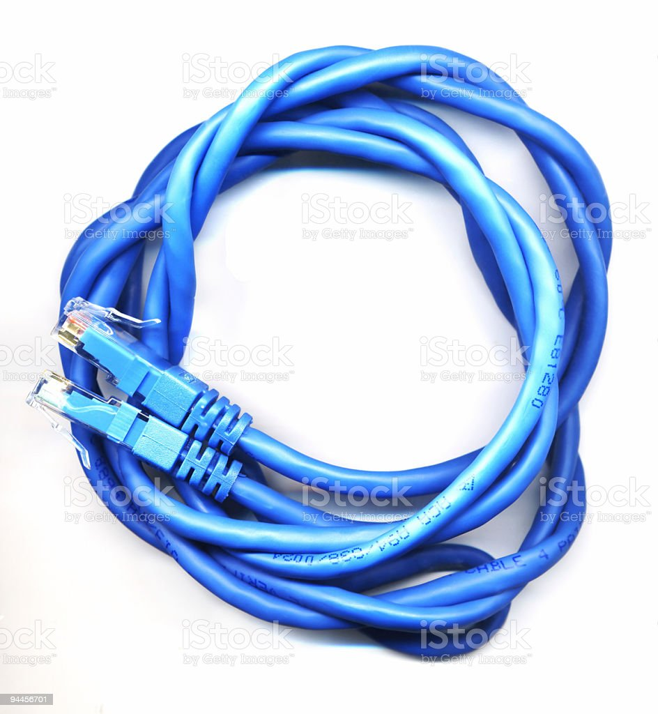Blue Cable royalty-free stock photo