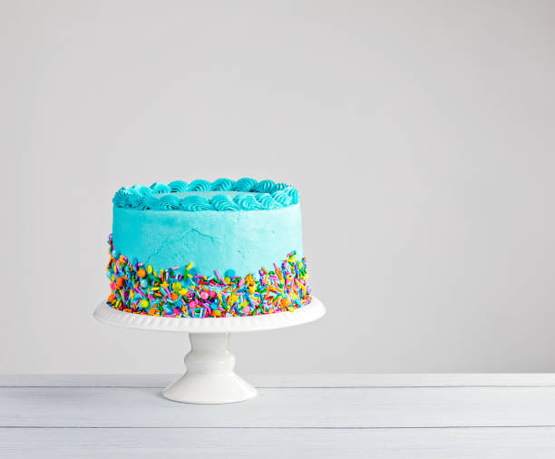 Blue Cake Stock Photo
