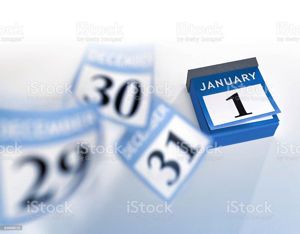 Blue calendar new year 2016 royalty-free stock photo