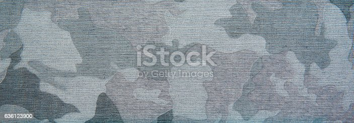 istock Blue camo patern texture on cloth 636123900