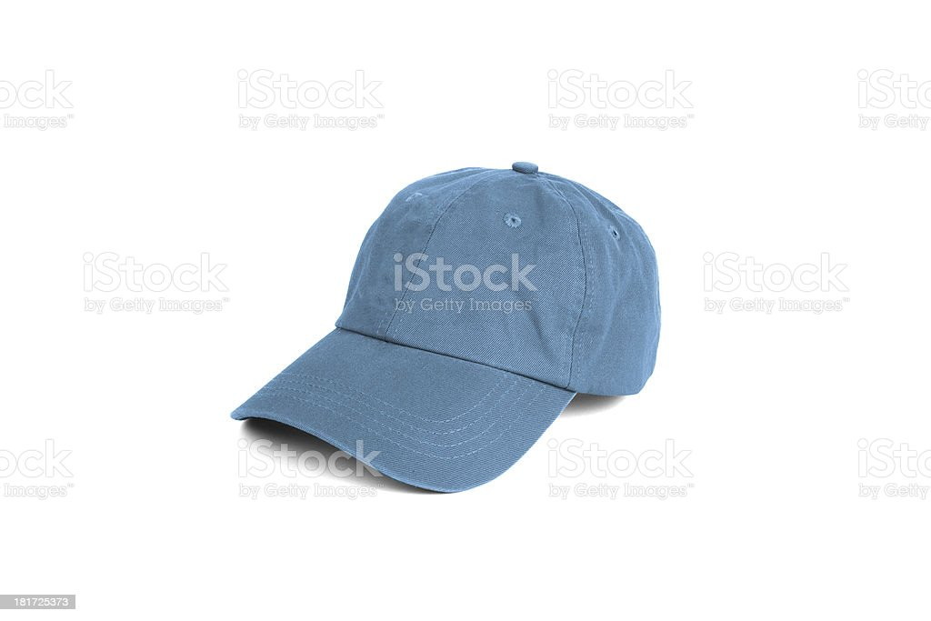Blue cap isolated on white royalty-free stock photo