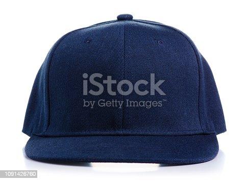istock Blue cap textile in hand 1091426760