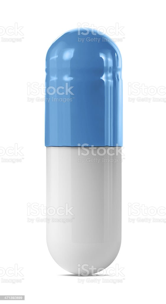 Blue Capsule stock photo