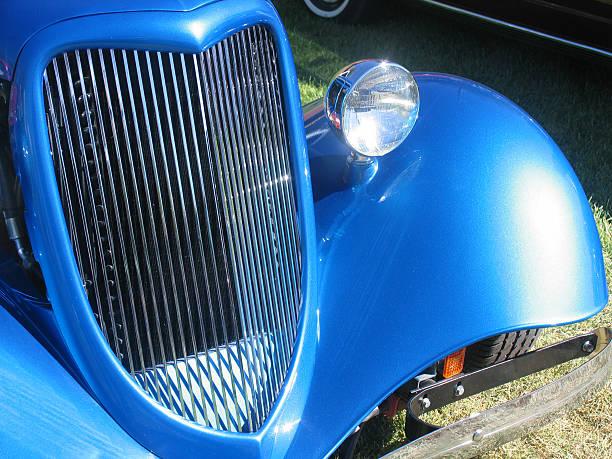 Auto blu 2 - foto stock