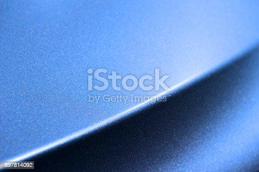 istock Blue car bodywork 897814092