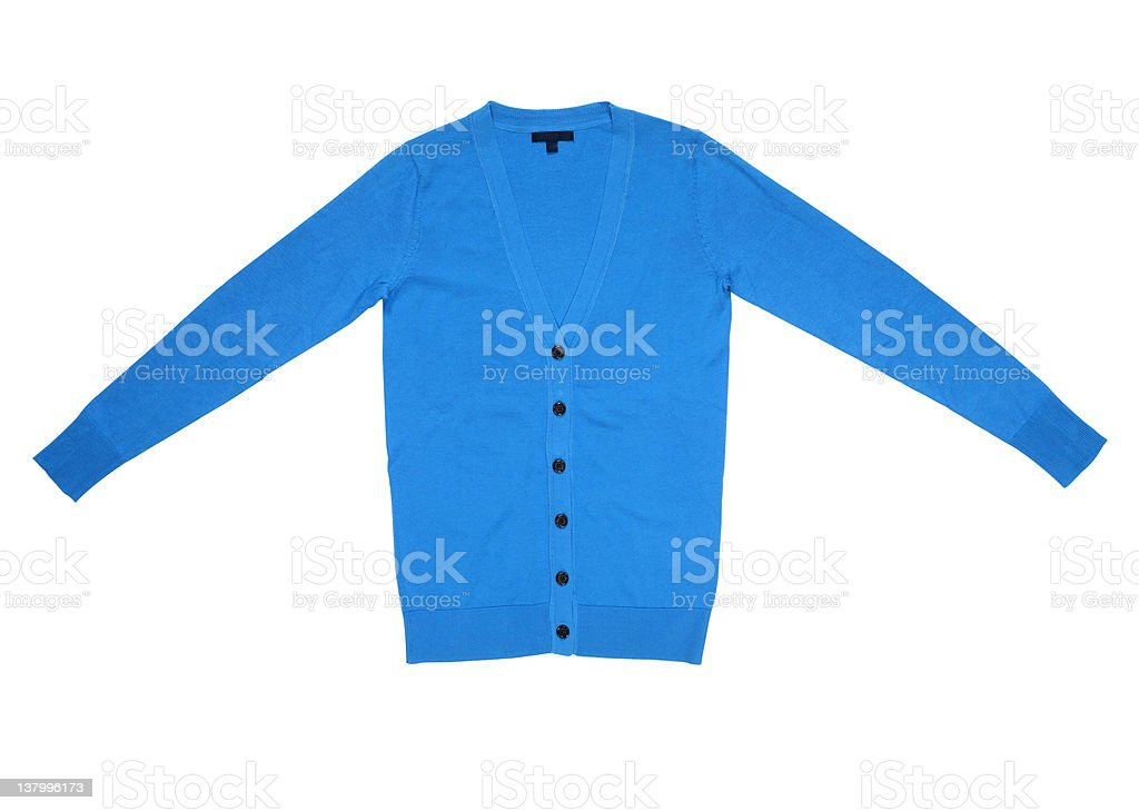 blue cardigan royalty-free stock photo