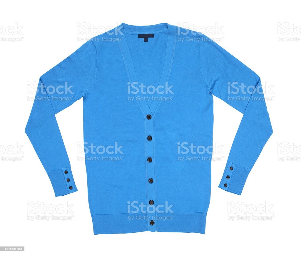 blue cardigan royalty-free stock photo