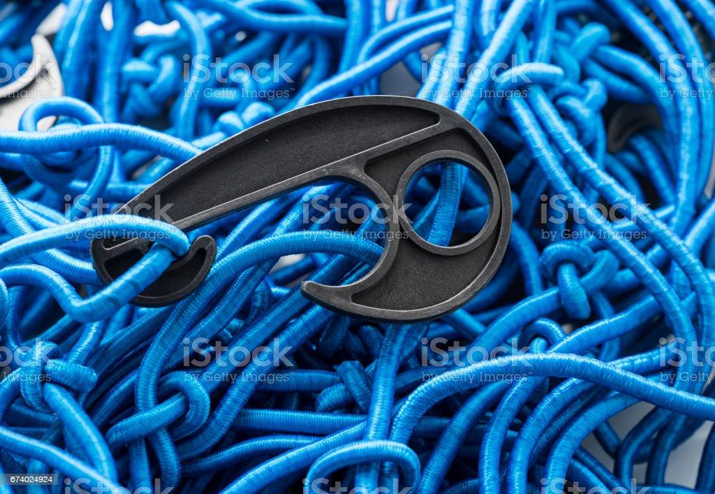 Blue Cargo net royalty-free stock photo