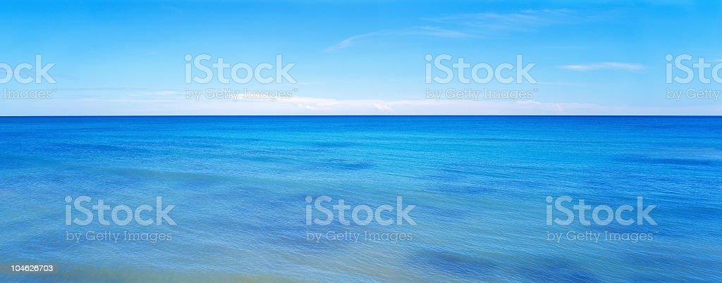 Blue caribbean sea royalty-free stock photo