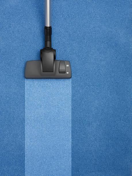 Blauen Teppich gereinigt mit Streifen – Foto