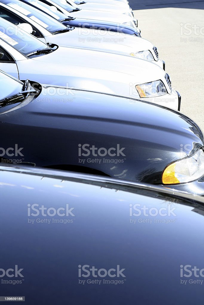 blue cars royalty-free stock photo