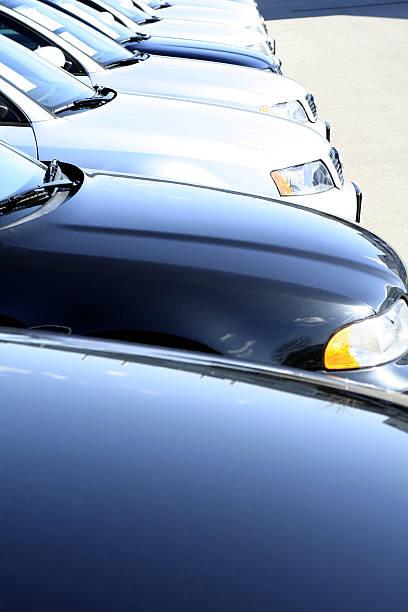 blue cars stock photo