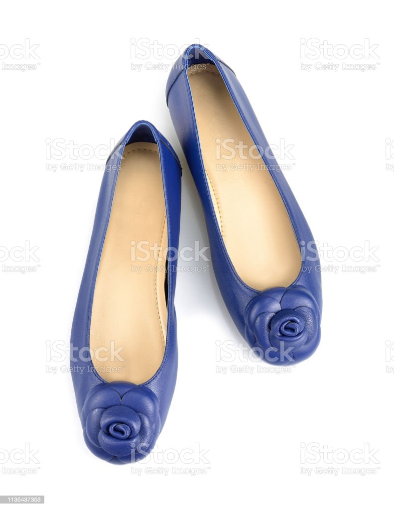 d9a3f6efe3f Blue Casual Woman Shoes Isolated On White Background Stock Photo ...