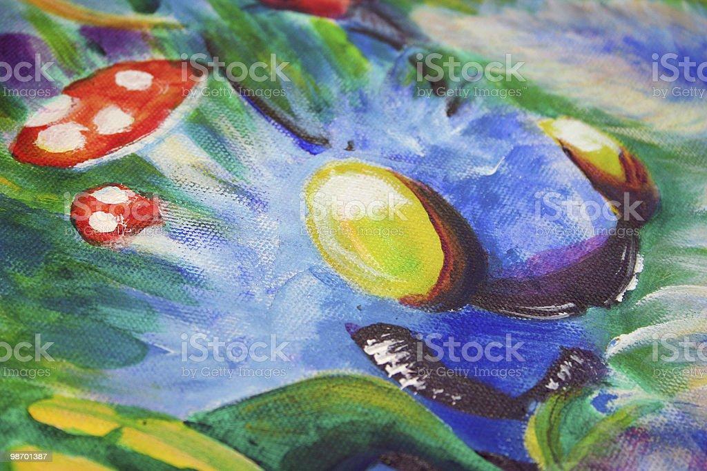 Blue Catterpillar Illustration for Children royalty-free stock photo