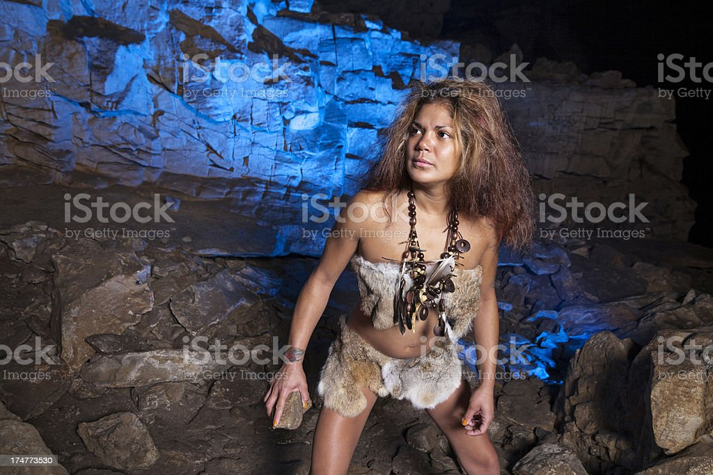 blue cave stock photo