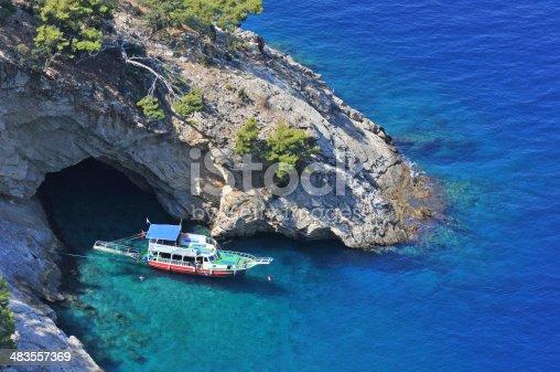 istock Blue cave 483557369