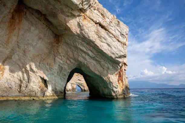 blaue Höhlen auf der Insel Zakynthos – Foto