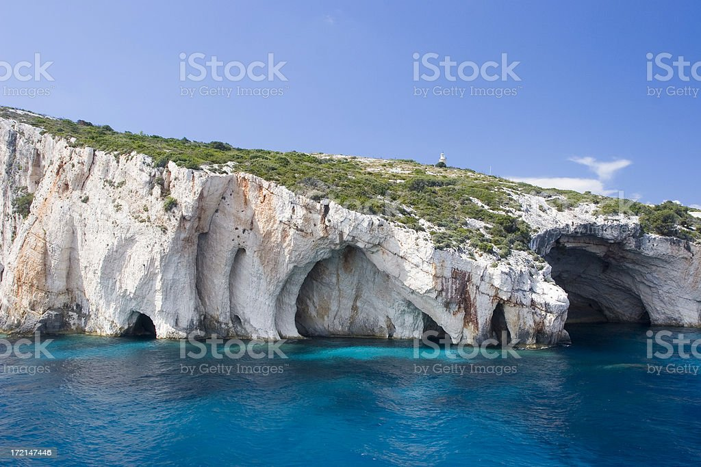 Blue caves stock photo
