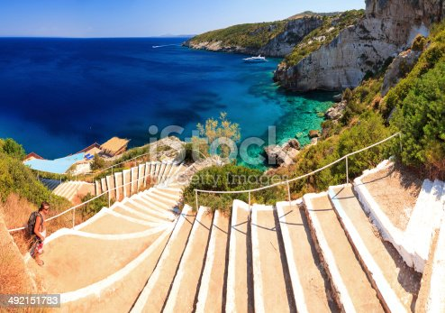 istock Blue caves stairs 492151783