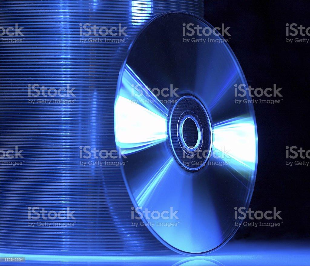 Blue CD's stock photo