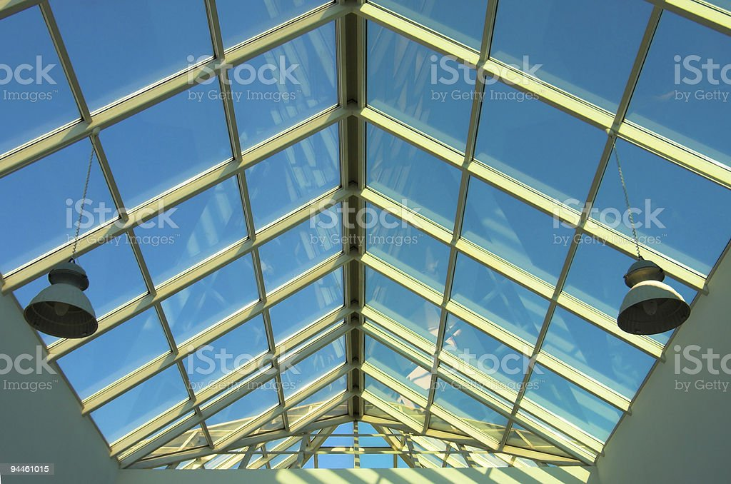 Blue ceiling in the shop royalty-free stock photo