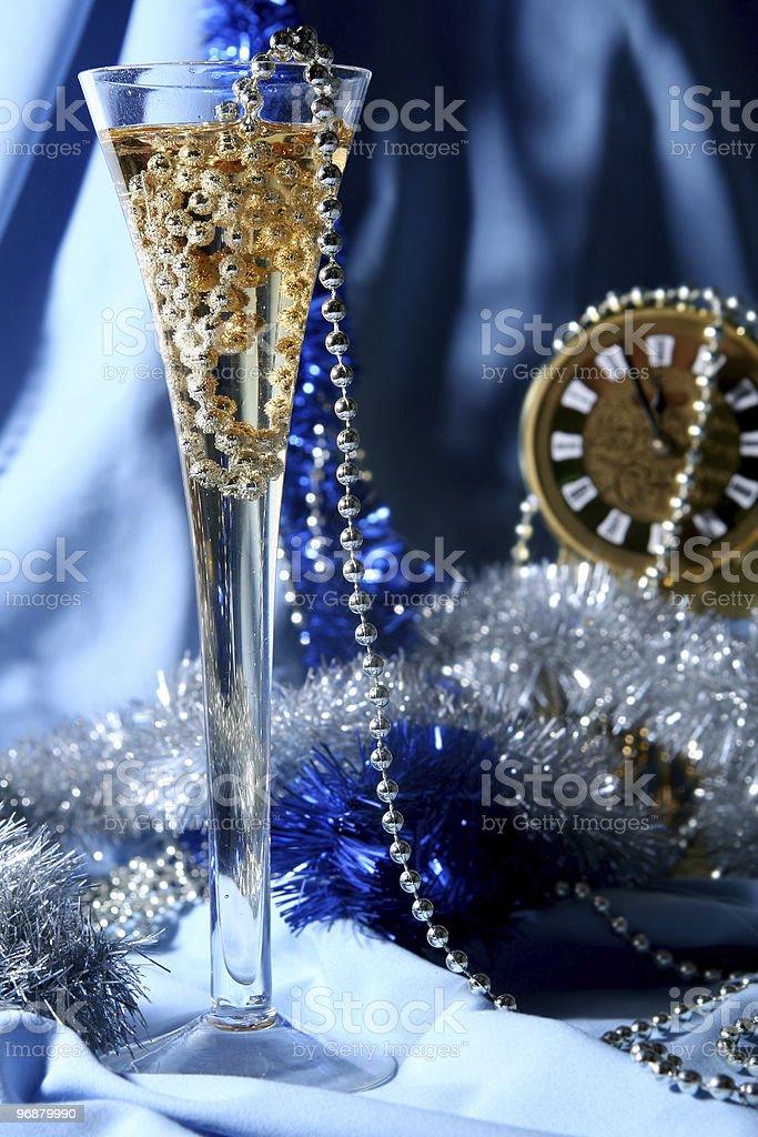 Blue celebration royalty-free stock photo