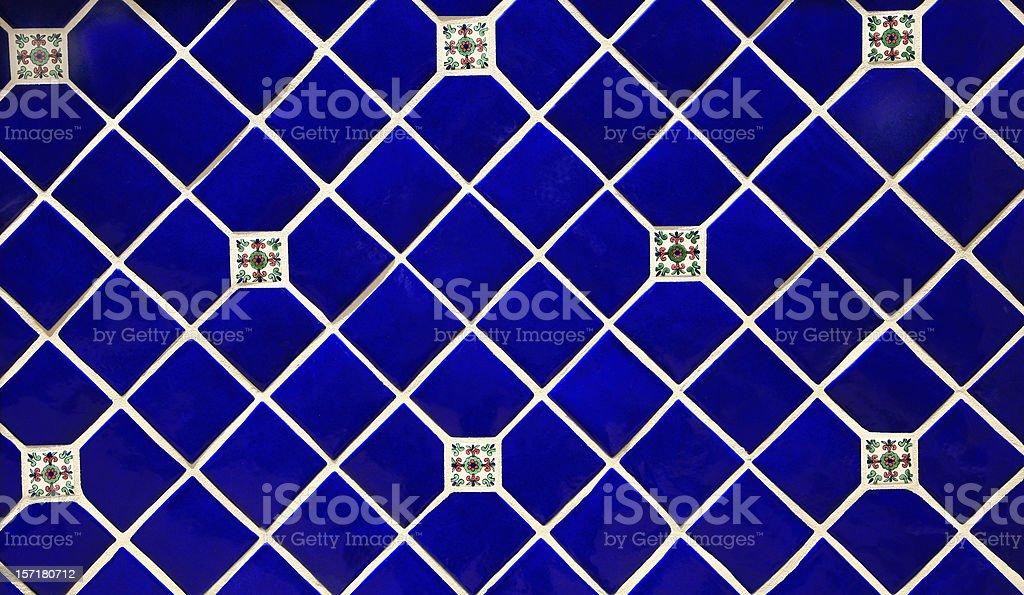 Blue Ceramic Tile Background royalty-free stock photo