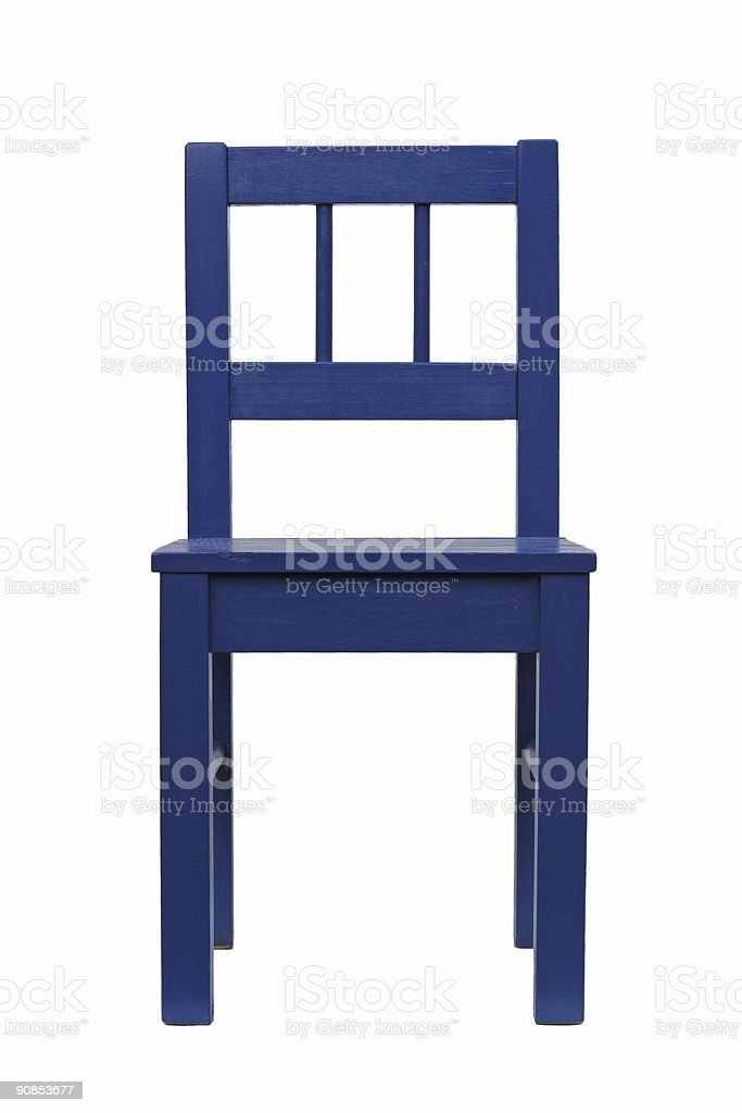 Blue chair isolated on a white background stock photo