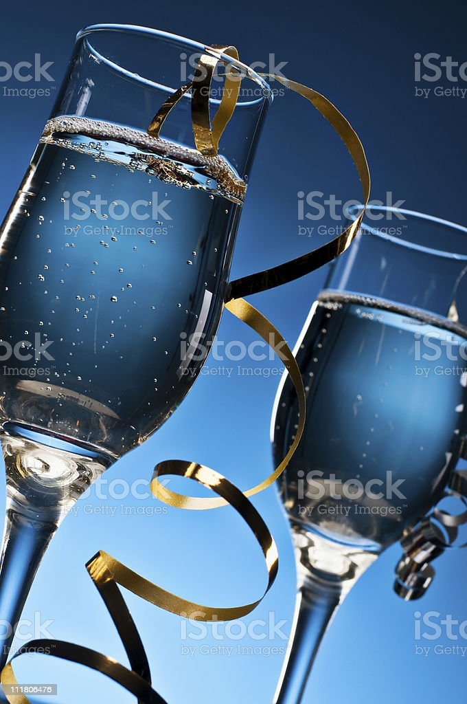 Blue Champagne royalty-free stock photo