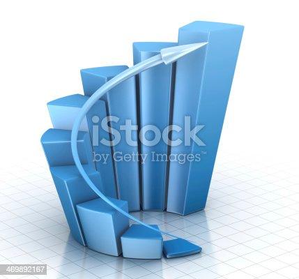 istock Blue Chart 469892167