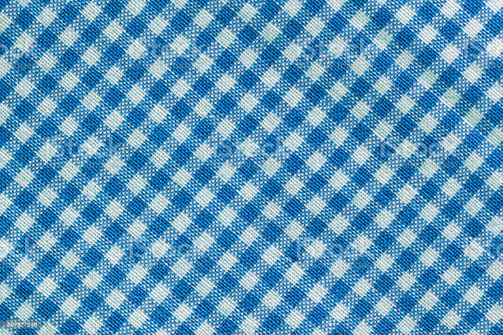 Perfect Blue Checked Tablecloth Texture Royalty Free Stock Photo