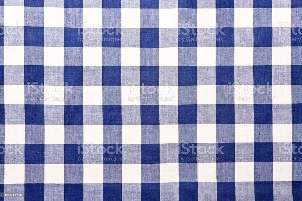 ... Blue Checkered Gingham Table Cloth Stock Photo ...