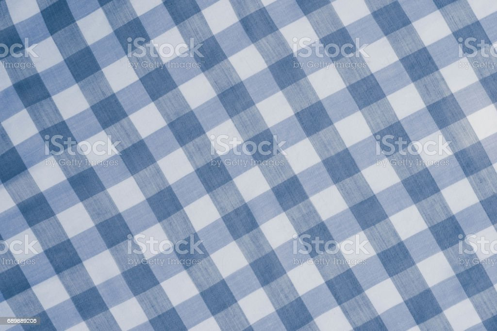 blue checkered tablecloth background stock photo