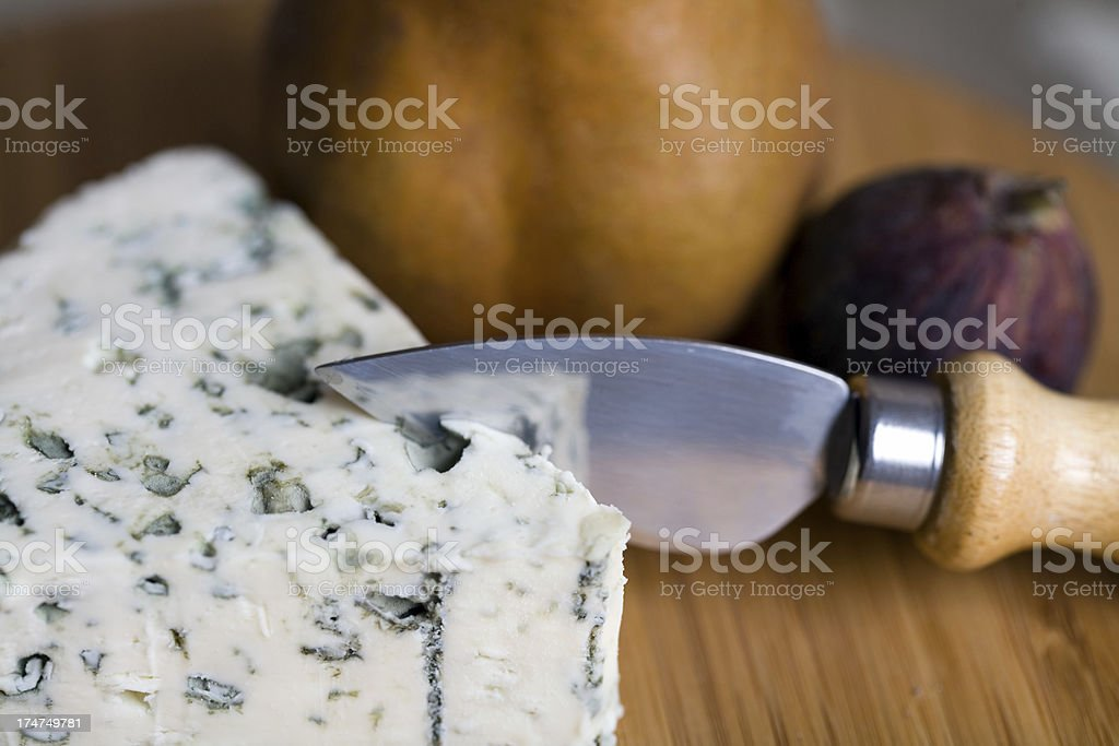 Blue Cheese and Fall Fruit stock photo