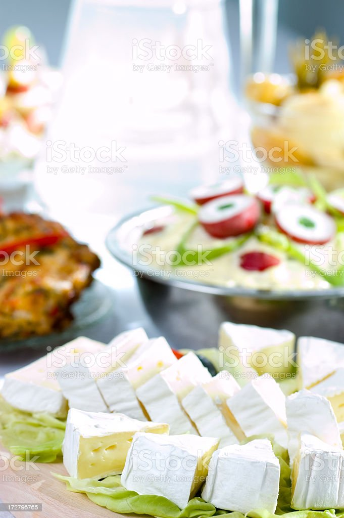 blue cheese decorated royalty-free stock photo