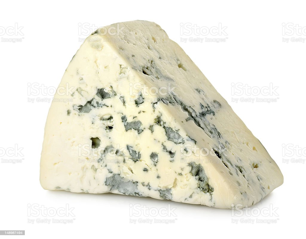 Blue cheese isolated stock photo