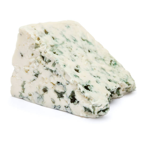 blue cheese on a white background. Clipping path stock photo