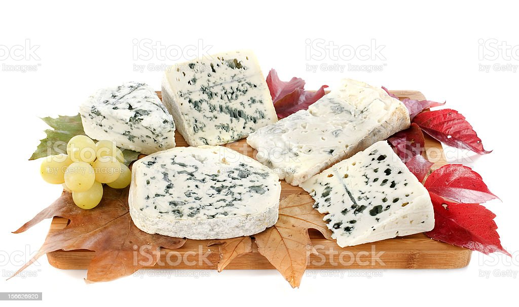 blue cheeses royalty-free stock photo