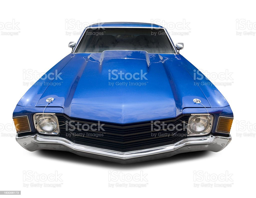 Blue Chevrolet Chevelle 1972 royalty-free stock photo