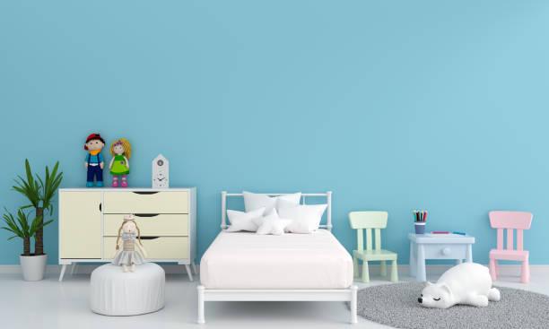 Blue child bedroom interior for mockup 3d rendering picture id1216472747?b=1&k=6&m=1216472747&s=612x612&w=0&h=h1pfz0atrwlxzfgpbdv3sxr3oxfpzcowapoxvspp3c4=