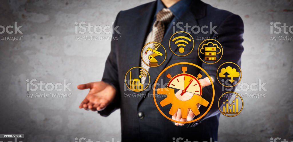 Blue Chip Manager Offers Real Time Manufacturing stock photo