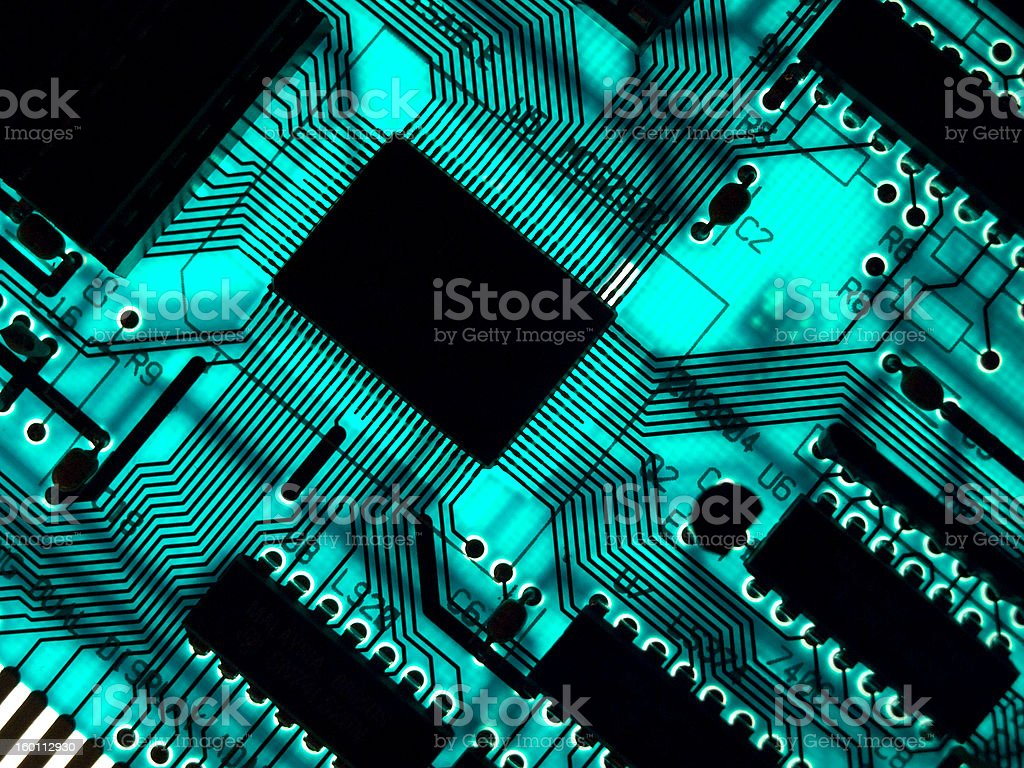 Blue chip royalty-free stock photo