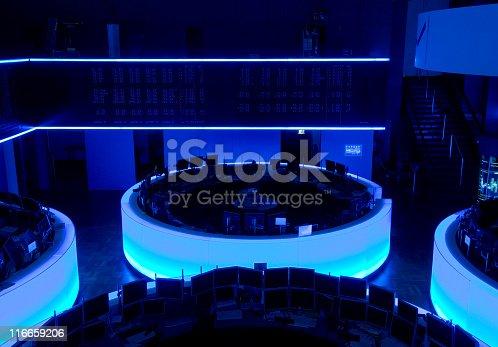 The trading floor of the German Stock Exchange in Frankfurt.
