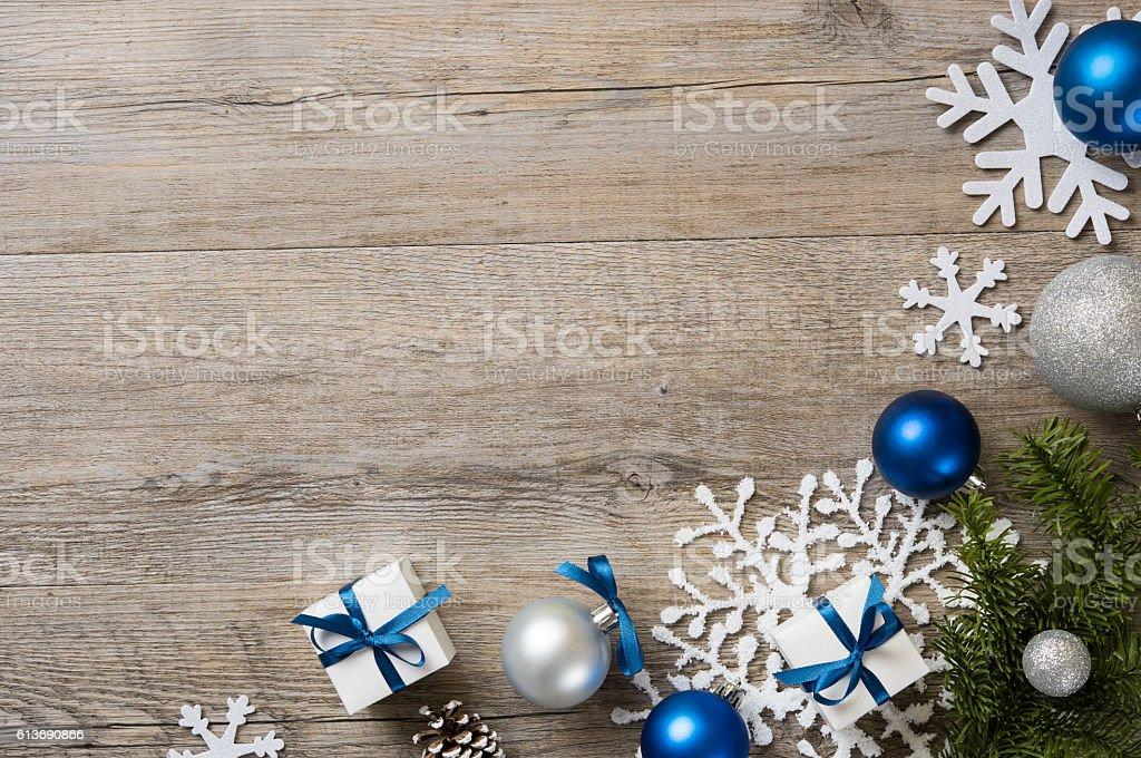 Fundo de Natal azul - foto de acervo