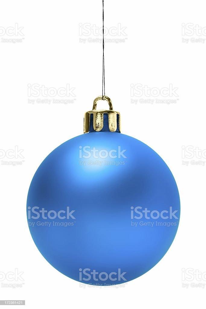 Blue Christmas Ball (aislado foto de stock libre de derechos