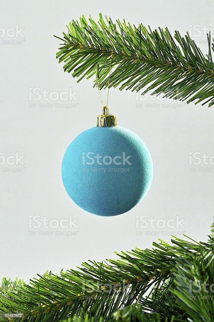 Blue christmas ball Lizenzfreies stock-foto