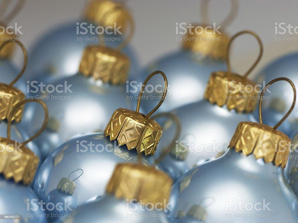 Blue Christmas balls, close-up royalty-free stock photo